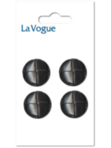 La Vogue 15 mm Shank Button - Black