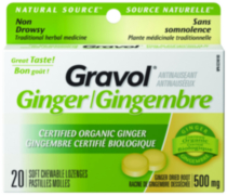 Pastilles tendres GRAVOL® Gingembre de source naturelle 20s