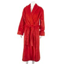 George Women's Textured Robe Red S-M