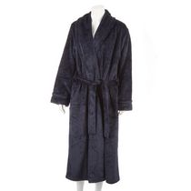 George Women's Textured Robe Navy S-M