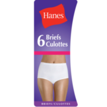 Hanes Women's Basics Brief - Pack of 6 Beige/bisque XL