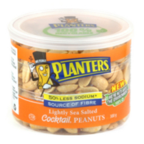 Planters Lightly Sea Salted Cocktail Peanuts