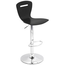 LumiSource Black H2 Height Adjustable Barstool