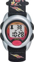Timex® Kids Silver Case Black Nylon Strap Digital Watch