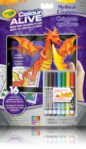 Crayola Colour Alive Mythical Creatures Colouring Book