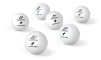 40 mm 1 Star White Table Tennis Balls - 6's