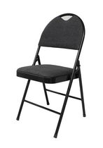 GSC Deluxe Black Fabric Folding Chair