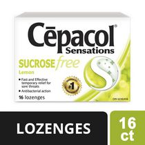 CEPACOL SENSATIONS LOZENGES: Lemon Sucrose Free