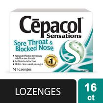 CEPACOL SENSATIONS LOZENGES: Sore Throat Blocked Nose