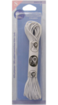 Corde élastique rond 4.6 m Sewing Essentials - Blanc