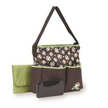 Baby Boom Deluxe Monkey Tote Diaper Bag with Wipes Case