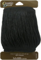 "Creativ Décor Fringe 4"" Black"