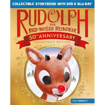 Rudolph The Red-Nosed Reindeer (50th Anniversary Collector's Edition) (Collectible Storybook + Blu-ray + DVD) (Walmart Exclusive)