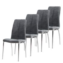 Worldwide Homefurnishings Fabric Dining Chair Grey
