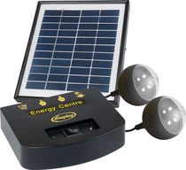 Freeplay 2200 MAH Solar Powered Energy Centre With 2 LED Bulbs - Black