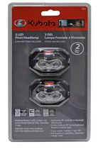 3 LED Pivot Head Light - Pack 2
