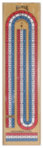 Wood 3 Lane Cribbage