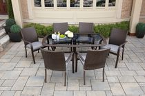 hometrends Tuscany 7-Piece Wicker Dining Set