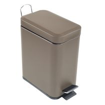 5L Rectangular Metal Step Garbage Can - Tan