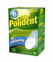 Polident Whitening Antibacterial Mint Fresh Denture Cleanser