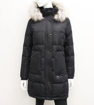 Canadiana Ladies' Down-Blend Quilted Parka Black L/G