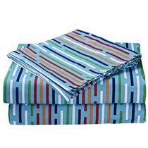 Mainstays Kids Stripe Microfiber Sheet Set