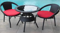 Henryka 3 Piece Bistro Set with Cushions