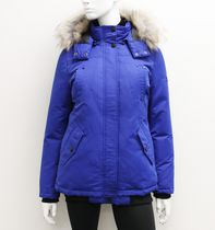 Canadiana Ladies' Down-Blend Bomber Jacket Blue L/G