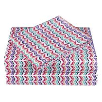 Ensemble de draps en microfibre à motif de chevron de Mainstays pour enfants Simple