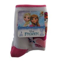 Disney Frozen Infant Girls' Crew Socks, Pack of 3 5-8