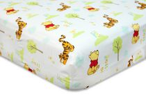 "Winne the Pooh ""Sunny Days"" Fitted Crib Sheet"