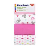 Garanimals 4-Pack Receiving Blankets, Girl