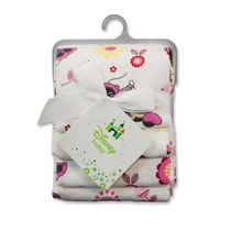 "Minnie Mouse ""Pretty in Gingham"" 4 Pack Receiving Blankets"