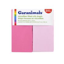 Garanimals Microfiber Fitted Crib Sheets Girl 2pk