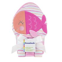 Garanimals Hooded Towel and 3 Washcloths for Girl