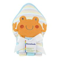 Garanimals Hooded Towel and 3 Washcloths for Neutral