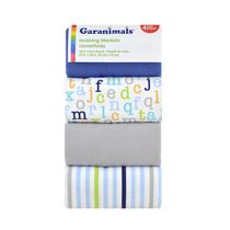 Garanimals 4-Pack Receiving Blankets, ABC Boy