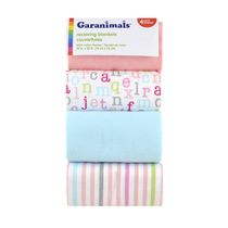 Garanimals 4-Pack Receiving Blankets, ABC Girl
