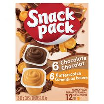 Snack Pack® Chocolate and Butterscotch Pudding Family Pack