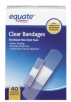 Equate Clear Bandages 40's