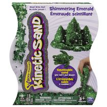 Kinetic Sand 1 lb Shimmering Emerald Green Squeezable Sand