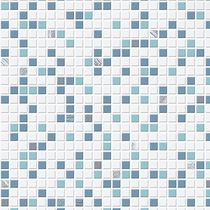 Modern Living Checker Wallpaper Aqua