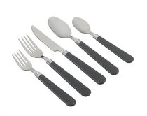 Mainstays 48 piece Flatware set with Organizer - black