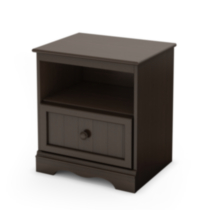 South Shore Savannah 1-Drawer Night Stand Chocolate