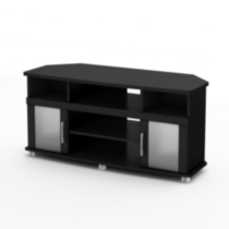 South Shore City Life Corner TV Stand, for TVs up to 50 inches Black