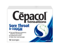 CEPACOL SENSATIONS LOZENGES: Sore Throat & Cough