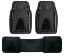 Pant Saver Zone Mat 3-Piece Set, Black