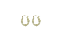 Sterling Silver Hoops with Gold Plating