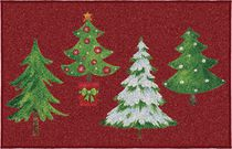 Holiday Time Four Tree Printed Mat