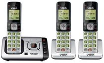 VTech 3 Handset Cordless Answering Phone System with Caller ID/ Call Waiting-CS6729-3